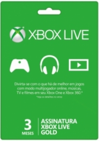 Live Gold 3 meses - Xbox one